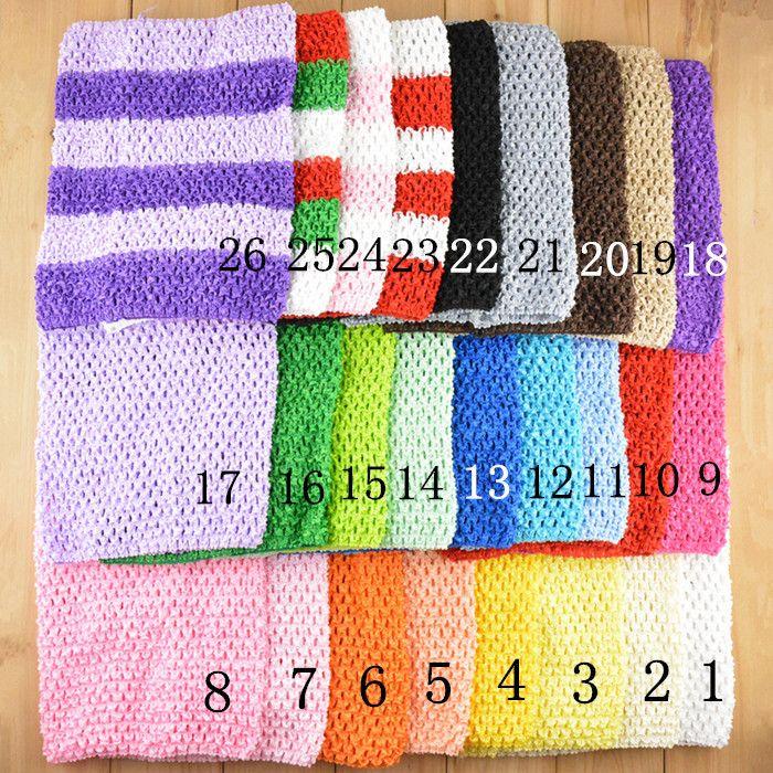 New Arrival 20cm X 23cm Baby Girl 9 Inch Crochet Tutu Tube Tops Chest Wrap Wide Crochet headbands Free Shipping 10pcs/lot #H018