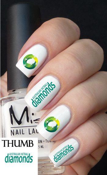 Australian netball diamonds nail decals