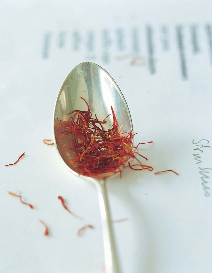 A pinch of saffron threads goes a long way!