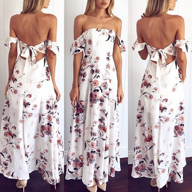 We're obsessing over all things off shoulder and this maxi is just the perfect look!  Drive through dress  Shop NEW --> www.muraboutique.com.au #muraboutique