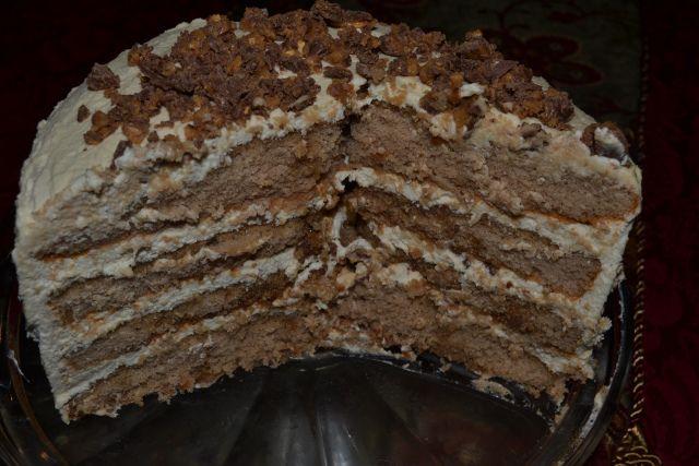 Toffee Tiramisu Layer Cake
