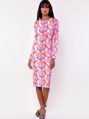 HENRY HOLLAND for KOOVS Vibrant Floral Body Con Jersey Dress from koovs.com