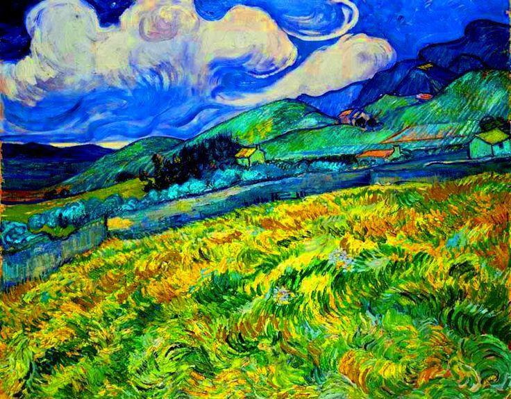 """VINCENT VAN GOGH: """"Landscape from Saint Rèmy"""" (1889)"""