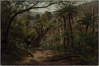 Eugene Von Guerard  Ferntree Gully in the Dandenong Ranges  1857