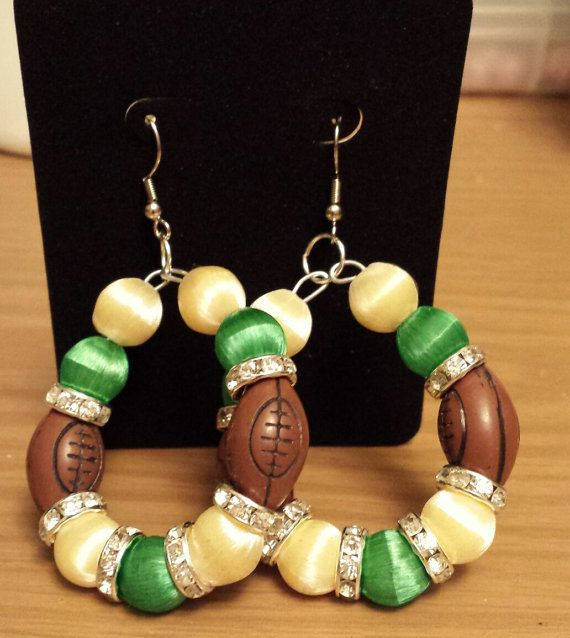 Michigan Spartans inspired earring by THEACCESSORIEDOLL on Etsy