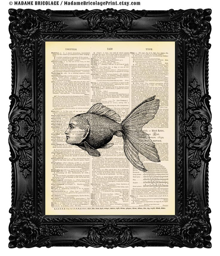 You're the only fish in the sea for me - Dictionary Art Print Vintage Upcycled Book Page Ocean Sign no.84 by MadameBricolagePrint on Etsy https://www.etsy.com/listing/107953250/youre-the-only-fish-in-the-sea-for-me