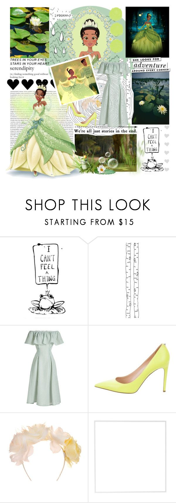 """The Princess And The Frog"" by dianasimonson ❤ liked on Polyvore featuring Disney, Kate Spade, Old Navy, ferm LIVING, Rejina Pyo, Valentino, Johnny Loves Rosie, Menu and David Yurman"
