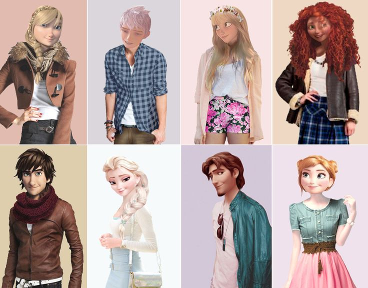 Here's what I think some Disney and Dream Works characters would look like in the real world!