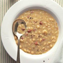 Cranberry bean soup.