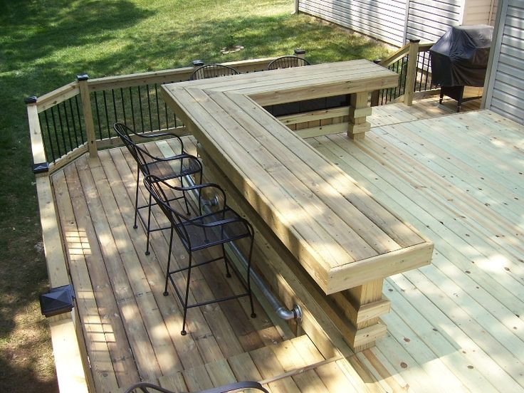 L shaped bar plans free woodworking projects plans for Wood outdoor bar ideas