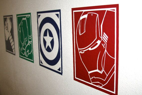 Superhero Vinyl Wall Decals Vinilos Avengers Y Vinil - Superhero vinyl wall decals