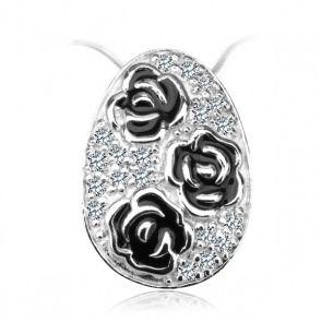 Srebrny wisiorek różyczki z cyrkonią - Biżuteria srebrna dla każdego tania w sklepie internetowym Silvea