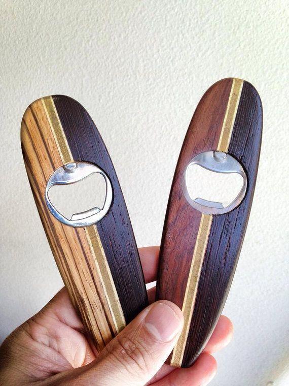Custom wooden Surfboard Bottle Opener or Wine bottle Cork keychain magnet on Etsy, $39.00