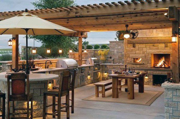 Top 50 Best Backyard Pavilion Ideas Covered Outdoor Structure Designs Backyard Kitchen Outdoor Kitchen Design Outdoor Kitchen