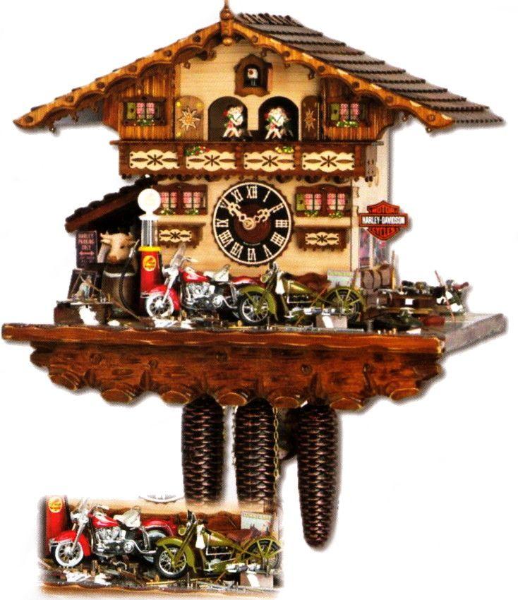 Harley davidson clocks harley davidson cuckoo clock 86792t cuckoo clock nest harley - Motorcycle cuckoo clock ...