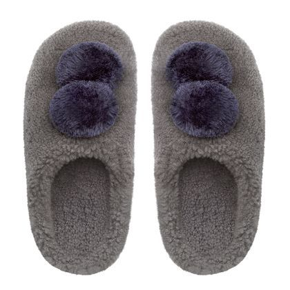 House™ with Pom Poms Shearling Slippers