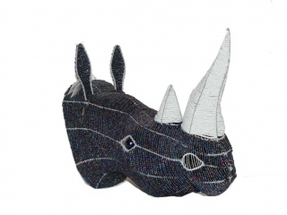 Rhinoceros - By Bishop of Master Wire and Bead Craft