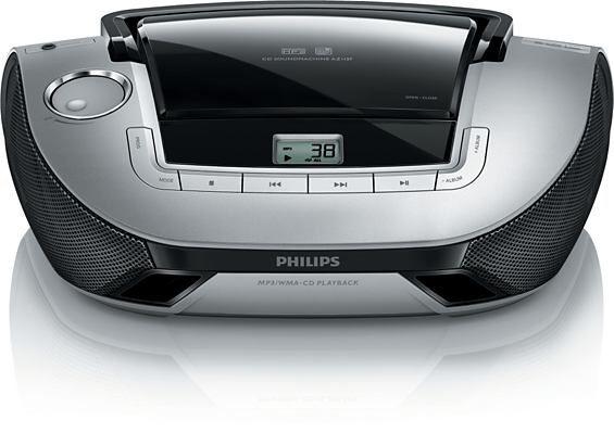 Philips AZ1137/12, 2×1W, CD Přehrávač, MP3