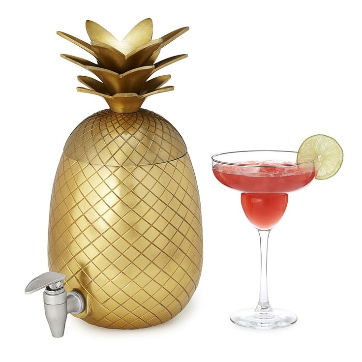 This summer, no matter whether you're hosting a luau party or just a normal backyard BBQ, this cool new Pineapple Drink Dispenser should add just the right splash of tropical beverage dispensing fun
