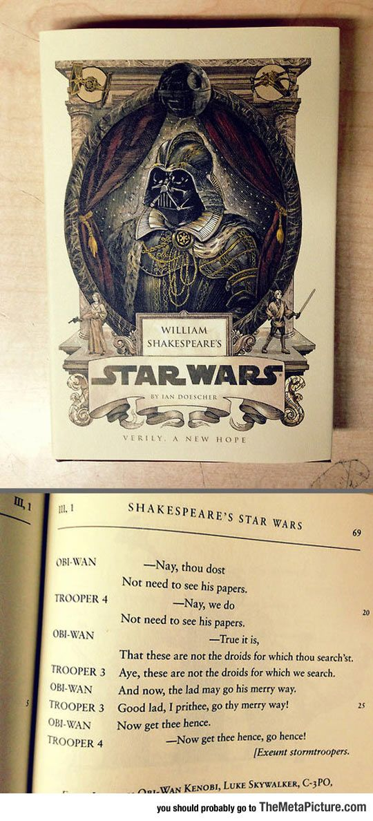 Shakespeare's Star Wars, This Is A Real Thing By The Way