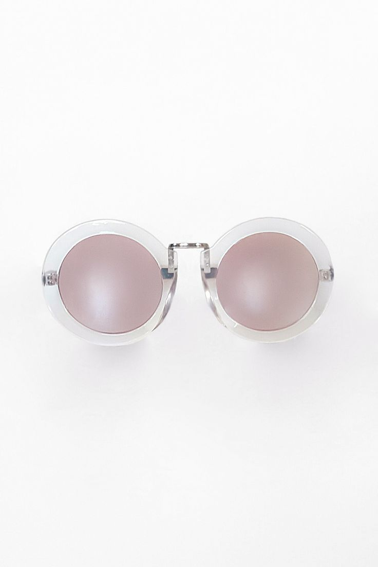 Be Yourself | Clear Round Sunglasses | Scandinavian Style