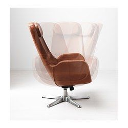 ARVIKA Fauteuil pivotant - Grann brun - IKEA