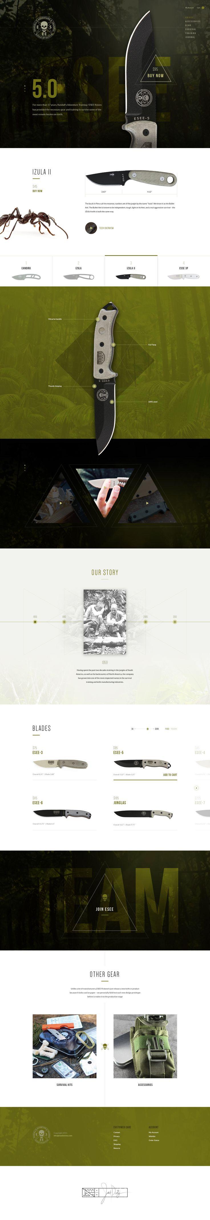 Esee by Ben Johnson knife brand website design