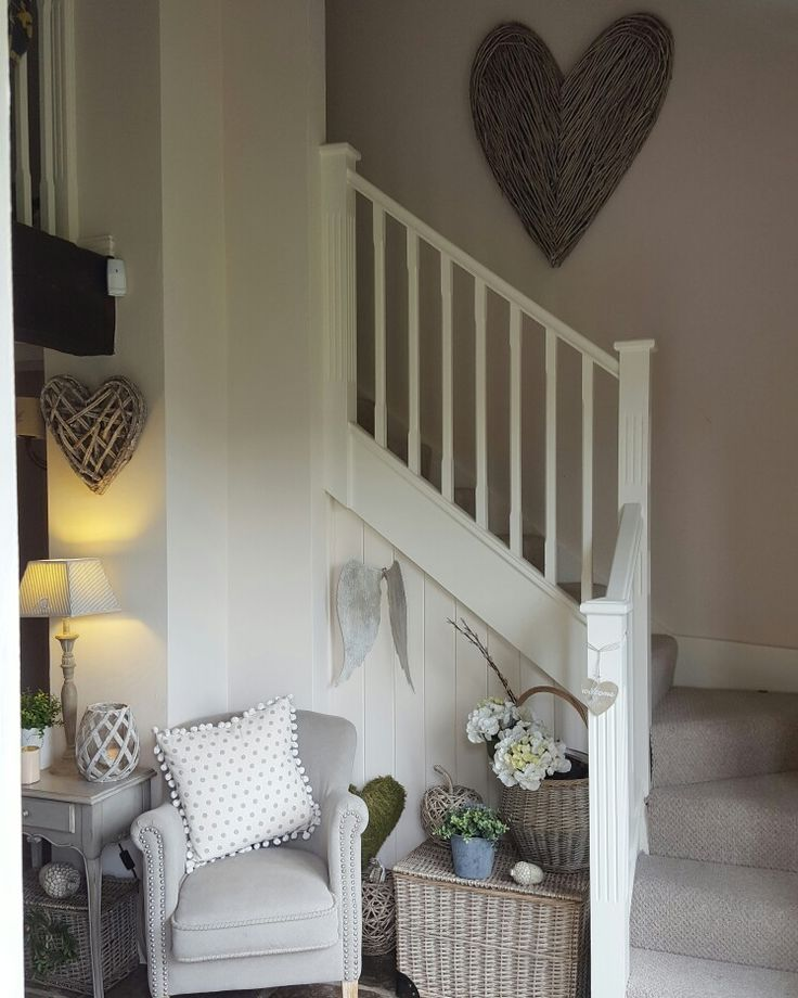 Large wicker heart..suits our hallway...mixes well with the basket and chair.