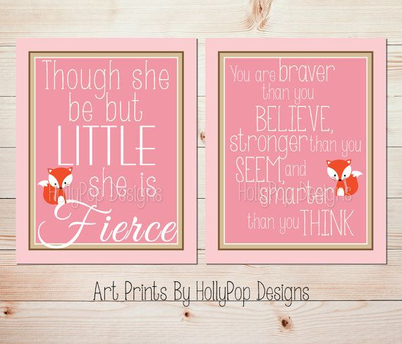 Hey, I found this really awesome Etsy listing at https://www.etsy.com/listing/184982713/girl-nursery-wall-decor-though-she-be
