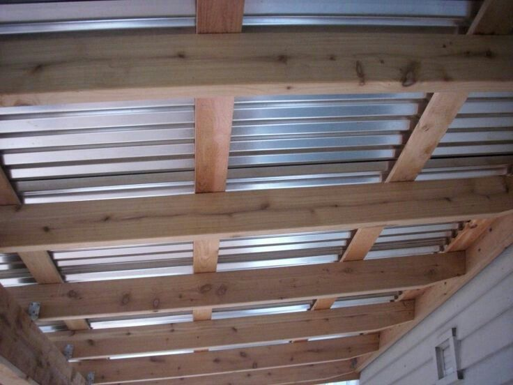 Charming Steel Roof For Covered Deck. Metal Patio ...