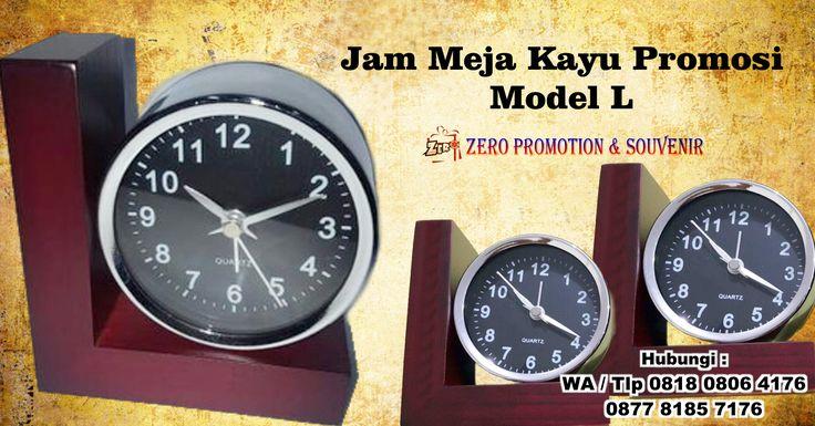 Jual Jam Meja Kayu Promosi Model L
