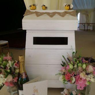 bee hive wedding postbox - Google Search
