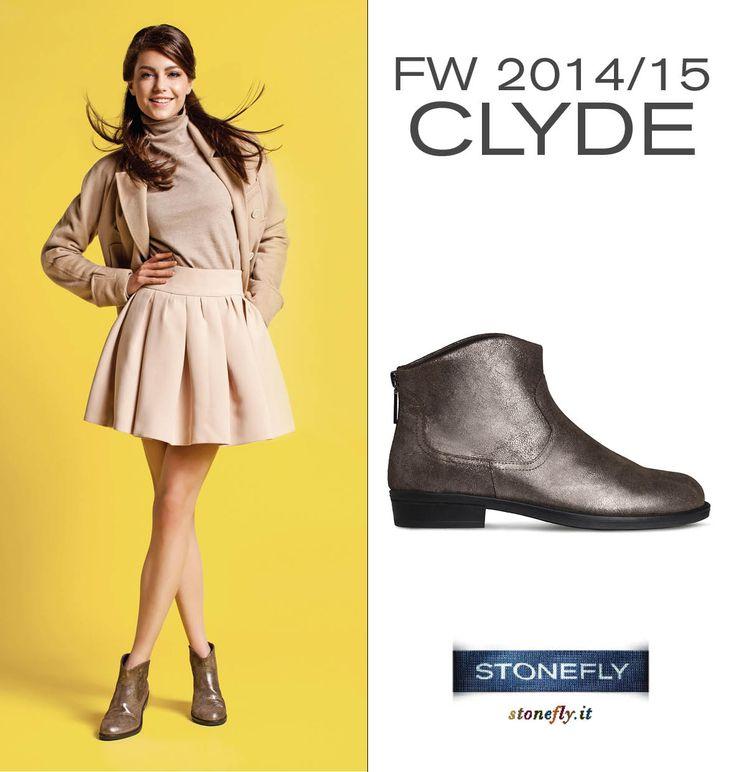In una giornata di sole si può osare anche una mini sbarazzina abbinata magari a Clyde, #ankle #boot in stile #texano in #pelle #glitterata stampata #pitone. Con zip sul tallone e #tacco 2 cm, sono quello che ci vuole per essere comode con un tocco di #stile! >> http://www.stonefly.it/it/2/collezione/donna/293/103442-093-clyde-6.html