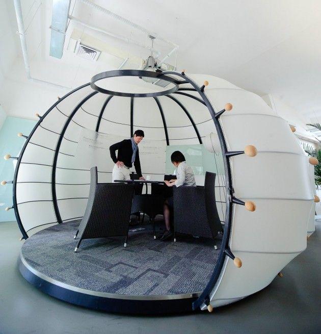 Pumpkin shaped brainstorming room