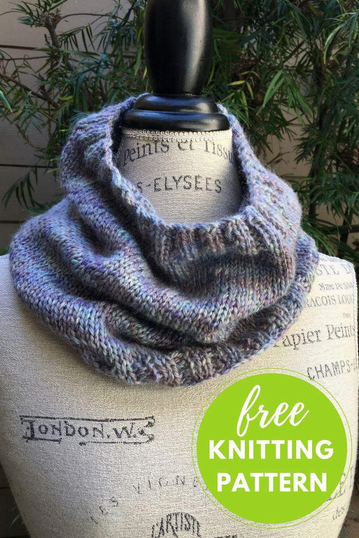 Fácil Colagem Cowl Free Knitting Pattern
