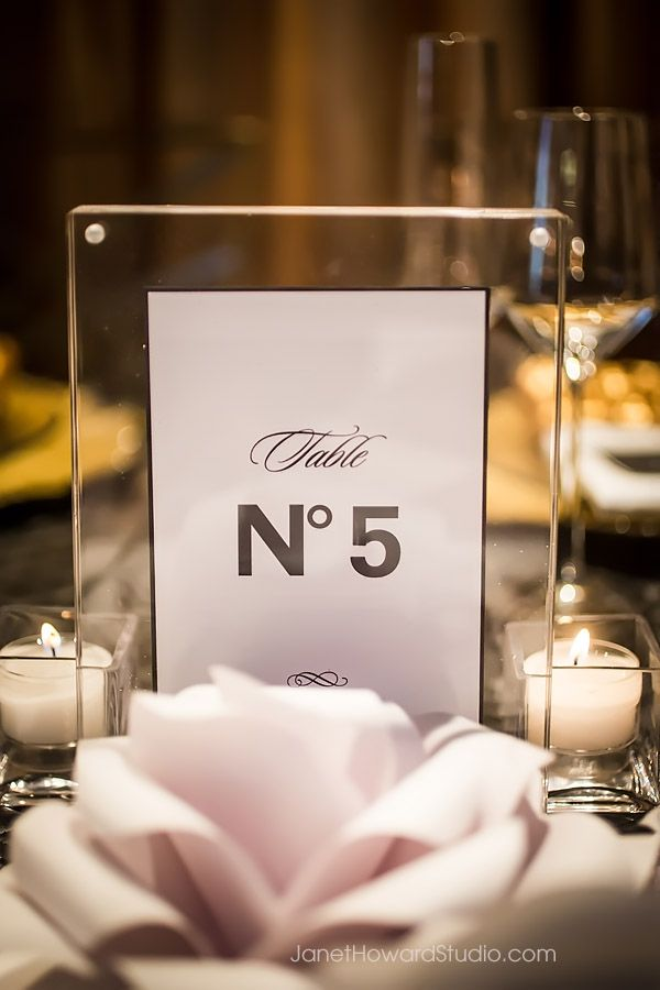 Chanel inspired wedding design - table number - Lemiga Events - Wedding and Event planners in Atlanta Georgia - www.lemiga.com - Styled Shoot - Photography by Janet Howard Studio