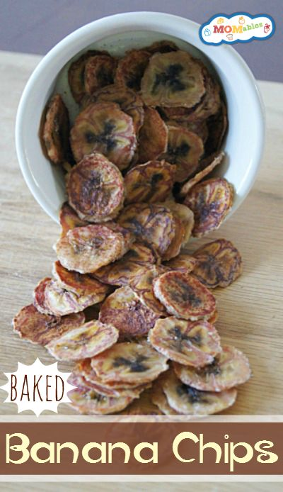 Homemade Baked Banana Chips  #MOMables