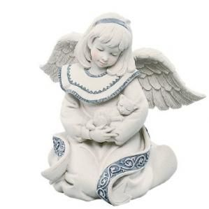 Sarah's Angels Shelbi, angel with cat collectible figurine, being retired.  The purrfect cat-lover sympathy gift. $15.50