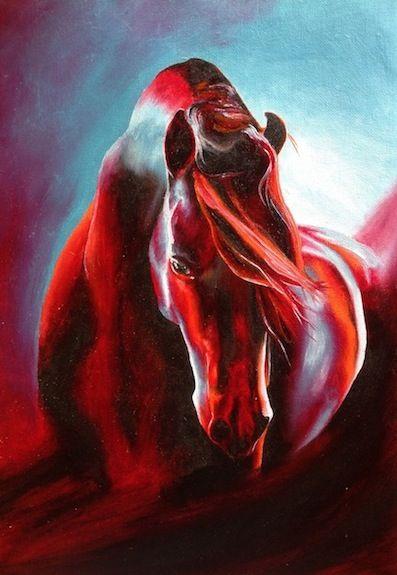 """Affire"", Oil on Canvas Paper"