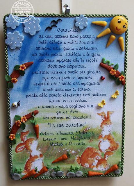 REGALO MAESTRA :PANNELLO CLASSE CAROTINE