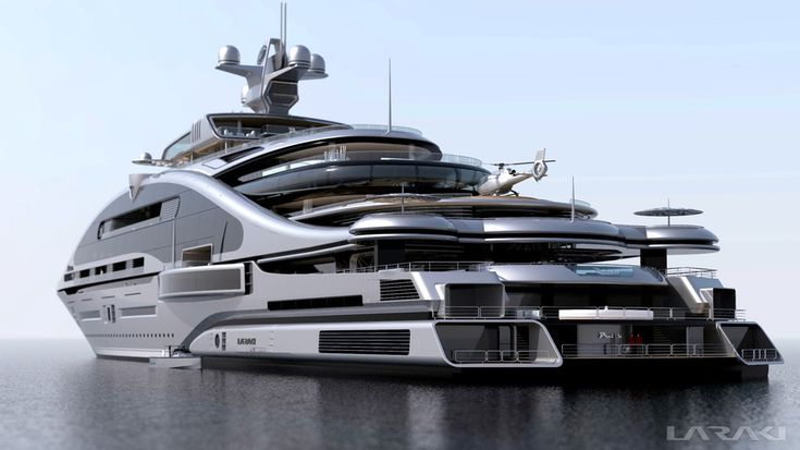 "Gigayacht Konzept ""Prelude"" (Laraki Yacht Design) My Goodness how Horrible!!looks like concrete on water"