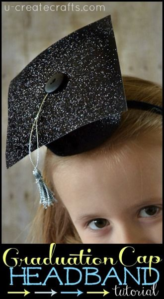 DIY Graduation Cap Headband tutorial