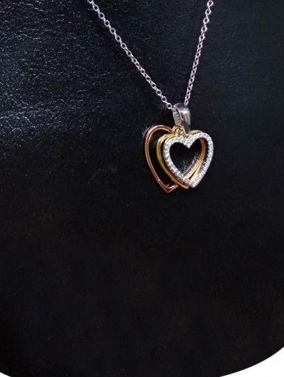 e0a8fe37f3a93 كوليه فضة عيار 925 كولية فضة ايطالى بدلاية قلوب البيع بالقطعة  jewelry   jewelrymaking