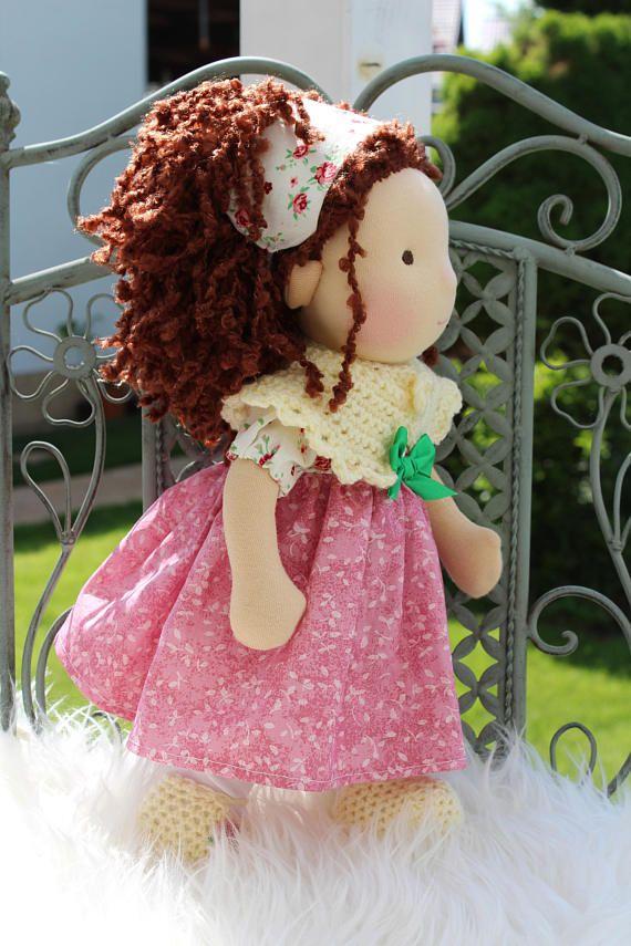 Waldorf doll 14 tall doll steiner doll organic
