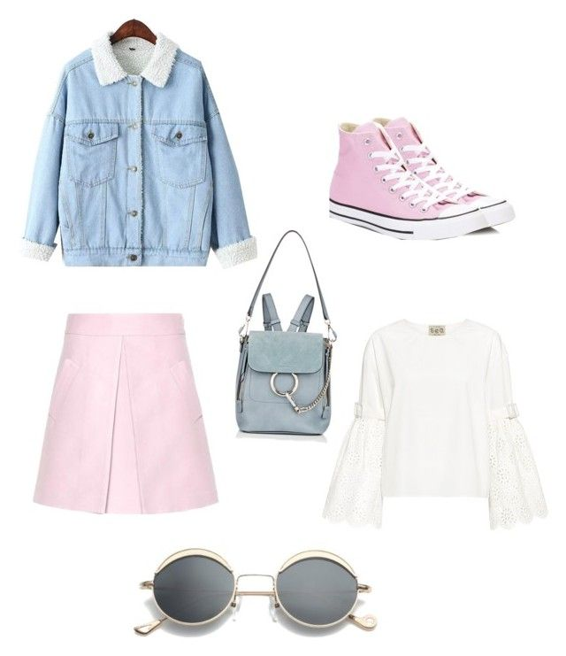 """Untitled #13"" by shanisiavniel on Polyvore featuring Marni, Sea, New York, WithChic, Converse and Chloé"