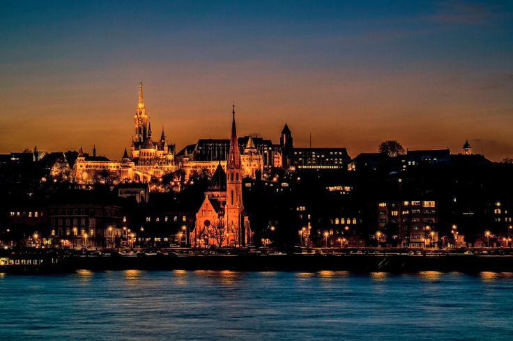 """'Budapest Fort"""" :: The view of the Buda Castle and Matthias Church from the Danube at dawn :: Budapest :: photo by Riccsi (Richárd Sárközi)"""