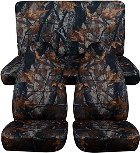 Jeep Wrangler TJ 1997 To 2006 Camo Seat Covers Brown Real Tree