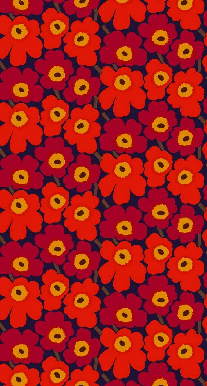 Marimekko Wallpaper By Amy James On Artwork Flowers Pattern