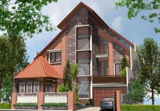 Model Rumah Modern Desain Adat Jawa