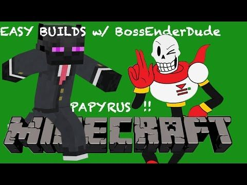 Minecraft Creative Mode Easy 2-D Pixel Art Build - Papyrus - YouTube